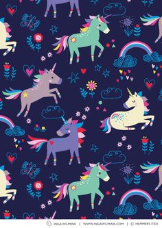 Inga Wilmink is an established freelance Illustrator & Surface Pattern Designer. Buy, license or commission colourful and quirky art, graphic prints and repeat patterns for your product. Unicorn Art, Magical Unicorn, Cute Unicorn, Cute Wallpapers, Wallpaper Backgrounds, Iphone Wallpaper, Unicorn Illustration, Cute Illustration, Unicorn Graphic
