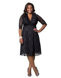Kiyonna Women's Plus Size Mademoiselle Lace Dress: Amazon Fashion