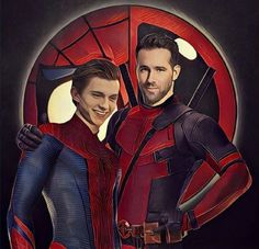 Tom Holland and Ryan Reynolds!