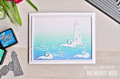 Hello, and welcome! I am so glad you stopped by today, because I have a clean and simple card to share with you! You could say I am dreaming of the ocean, and you would be correct. The winter weather just doesn't want to leave, and I am cold! Let me share with you how I created this simple, and easy seafaring card. To begin, I took the Scallop Stitched Fancy Frames, and ran the second to last frame through my die cut machine four times with white card stock. I glued them together, and set…