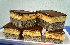 Chod: Zákusky a koláče - Page 19 of 254 - Mňamky-Recepty. Hungarian Desserts, Hungarian Cake, Hungarian Recipes, Other Recipes, My Recipes, Cookie Recipes, Cake Bars, Kolaci I Torte, Croatian Recipes
