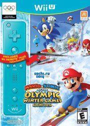 Mario & Sonic Sochi 2014 Olympic Winter for Wii U w/ Blue Remote Plus for $49.96