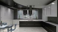 Nice Black kitchen!