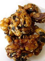 Asian spiced walnuts.