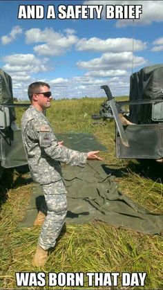 And A Safety Brief Was Born That Day - Military humor