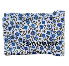 5 Yard New Design Hand Block Print Voile Indian 100% Soft Cotton Running Fabric  #Unbranded