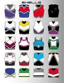 design de camisa cheerleaders