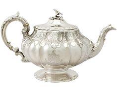 Sterling Silver Teapot - Antique Victorian SKU: A4391 Price GBP £1,395.00 http://www.acsilver.co.uk/shop/pc/Sterling-Silver-Teapot-Antique-Victorian-49p8193.htm