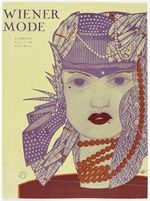 Wiener Mode Magazine cover, circa 1928. #fashion