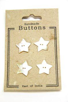 Shell Star Buttons