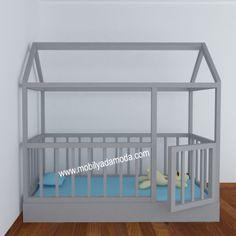 Montessori Yer Yatağı 90x190 Yatak Hazneli Kapılı
