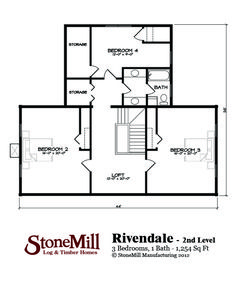 Rivendale Log Home Plan | StoneMill Log & Timber Homes