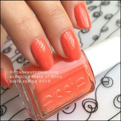 Essie Sunshine State of Mind – Essie Spring 2016. Find the whole collection swatched & compared at imabeautygeek.com