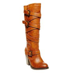 Madden Girl Kickback Women's Tall Boot (love the design, nice heel and color) $56