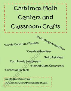 Christmas Math and Classroom Crafts product from Everyday-Adventures on TeachersNotebook.com
