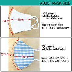 Sewing Patterns Free, Free Sewing, Free Pattern, Easy Face Masks, Diy Face Mask, Tapas, Muslin Fabric, Pocket Pattern, Clothing Hacks