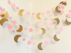 I Love you to the Moon and back decorations - PINK
