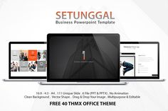 Setunggal Powerpoint Template by Dedijuniadi on @creativemarket