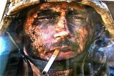 "This photo of James Miller ""the marlboro man"" battle of Fallujah...."