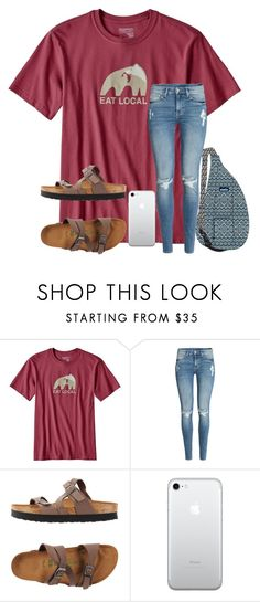 """""""i need you right here with me.."""" by arieannahicks on Polyvore featuring Patagonia, Kavu, H&M and Birkenstock"""
