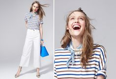 It's All About the Stripes | Boottique Blog  Nautical look - stripes with white denim