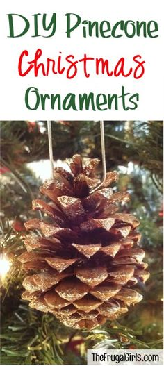 Pine Cone Ornaments ~ from TheFrugalGirls.com ~ Deck the halls with some fun Homemade Christmas Ornaments, like these simple DIY Pine Cone Ornaments!