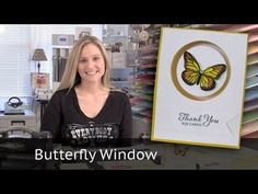 Butterfly Window Card - using Stampin' Up! Aqua Painter - YouTube