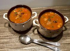 Zupa meksykańska z indykiem - Blog z apetytem Food Design, Cheeseburger Chowder, Thai Red Curry, Blog, Cooking, Ethnic Recipes, Food Ideas, Kitchen, Blogging