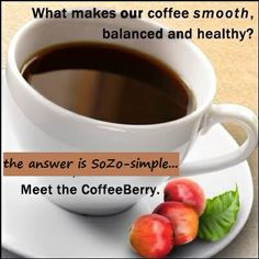 The richest, healthiest coffee in the world is exclusive to SoZo - Order your delicious cup now - available in Ground, Instant and Latte : http://www.shopsozo.com/idealcoffee4u