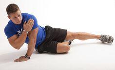 Zach Hertzel demonstrates a tricep push up.