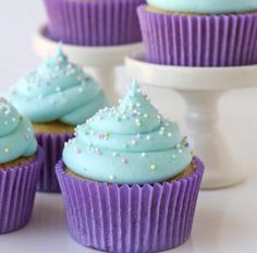 Blue and purple cupcakes