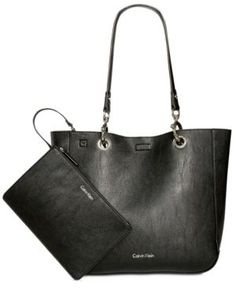 Calvin Klein Distressed Reversible Tote with Pouch -