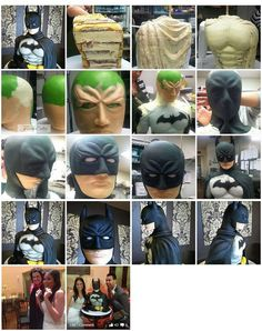Superheroes are awesome and it's dessert do its my favorite 3d Cakes, Fondant Cakes, Cupcake Cakes, Cake Structure, Batman Cakes, Sculpted Cakes, Superhero Cake, Fondant Tutorial, Novelty Cakes