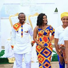 Get ready to be blown away with these latest kente styles with colourful Ghanaian kente … Couples African Outfits, African Clothing For Men, Couple Outfits, Prom Outfits, Latest African Fashion Dresses, African Print Dresses, African Print Fashion, African Dress, African Prints