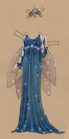 Titania, costume 1 by Jeff Davis* Free paper dolls at Arielle Gabriel's The International Papef Doll Society and The China Adventures of Arielle Gabriel the huge China travel site by Arielle Gabriel *