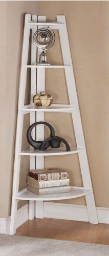 Furniture & Design :: Office Furniture :: Book Shelfs :: White finish wood corner shelf unit-love these corner shelves:) Corner Shelf Unit, Wood Corner Shelves, Corner Display Unit, Corner Bookshelves, Glass Shelves, Corner Shelves Living Room, Bookshelf Ideas, Diy Bookcases, Ladder Display