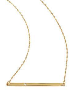 { Bar-Pendant Necklace }