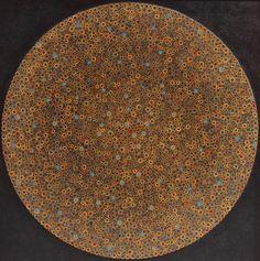 "Stefano Maraner ""Vertigine"" Tecnica mista/legno su tavola 120x120 - 2015"