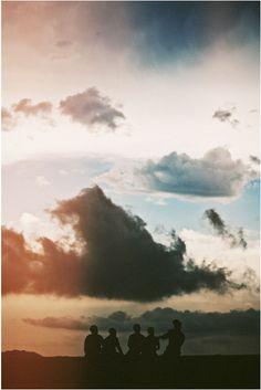 clouds / color / friends / silhouette