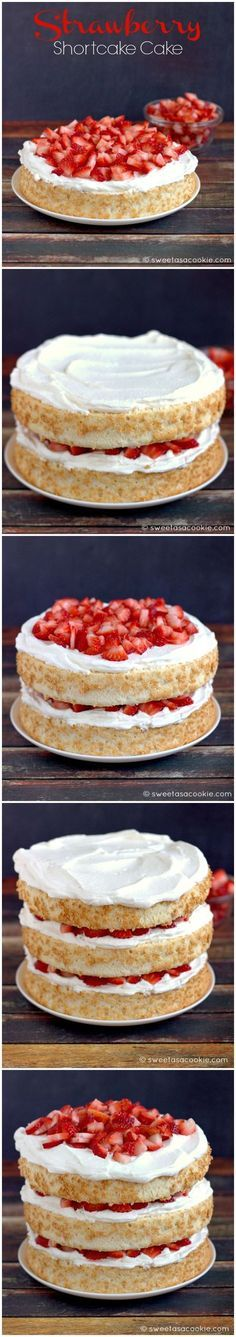 Strawberry Shortcake Cake | Sweet as a Cookie