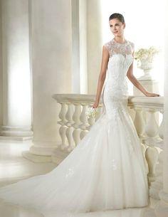 Vestido de novia San Patrick modelo Seymour disponible en la tienda de novias De Novia a Novia. San Jose, Costa Rica.