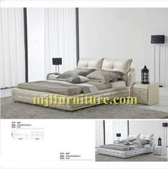 New style professional leather soft bed manufactory