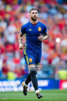 Sergio Ramos of Spain warming up during the 2018 FIFA World Cup Russia Final Qualification Round 1 Group G match between Spain and Italy on 02 September 2017, at Santiago Bernabeu Stadium, in Madrid, Spain.