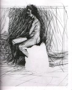 R B Kitaj, Ashmolean Drawing (Oxford) IV, 1958