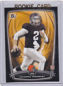 Johnny Manzil Cleveland Browns Cards | Johnny-Manziel-RC-Cleveland-Browns-2014-BOWMAN-BLACK-Insert-Football ...