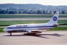Pan Am's baby Boeing, 737-200 N383PA Clipper Steglitz, Zurich 1984.