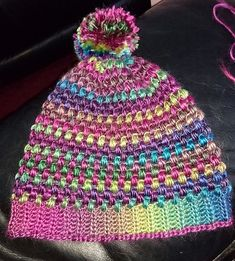 Had one lonely ball of this yarn in my stash for ages, so given that there's a def nip in the air now I decided to make myself a new hat. Leona King