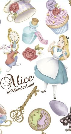 Wallpaper Iphone Disney Vintage Alice In Wonderland Ideas Alice In Wonderland Drawings, Alice In Wonderland Tea Party, Alice In Wonderland Clipart, Cute Disney Wallpaper, Wallpaper Iphone Disney, Disney Poster, Disney Background, Poster S, Princesas Disney