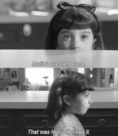 When I was younger, I identified with Matilda so much, and I wanted to be JUST LIKE Mrs. Honey.