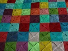 Elmer squares crochet blanket by little tin bird